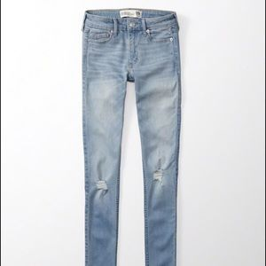 Abercrombie & Fitch Denim - Light Blue Super Skinny Jeans, Abercrombie