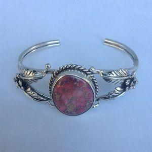 Sterling Silver Sea Sediment Cuff Bracelet
