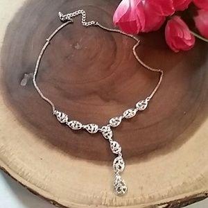 Monet Jewelry - Monet Silver Chandelier Drop Necklace