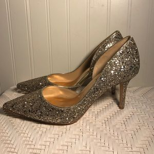 982ce5a50fe0 Badgley Mischka Shoes - Badgley Mischka Daisy Glitter D Orsay Pumps