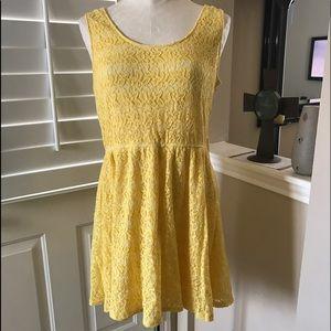 Mossimo Supply Co. Dresses & Skirts - Yellow lace mini dress
