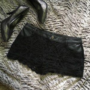 Free People Pants - Free People black lace shorts
