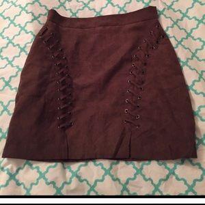 LF Dresses & Skirts - **FINAL PRICE* * LF brown suede skirt Millau.