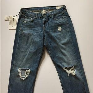 rag & bone Denim - NWT rag & bone Distressed Boyfriend Jeans