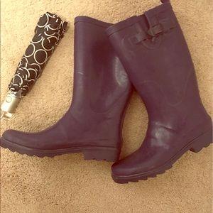 Capelli of New York Shoes - ☔️ Festival Ready! Purple Capelli Rain Boots ☔️