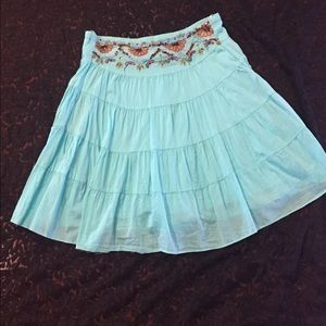 🌸Buy 2 for $10🌸 Embellished turquoise skirt