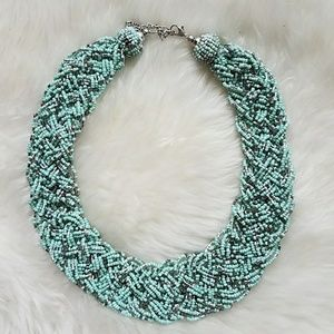 Francesca's Collections Jewelry - Mint/silver statement necklace from Francesca's