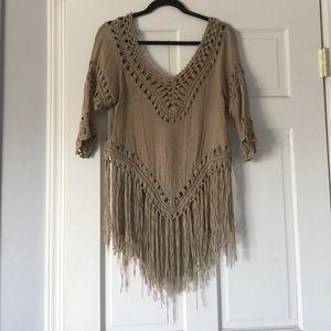 Sans Souci Tops - fringe blouse