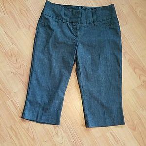 Maurices Pants - Maurices charcoal Capri dress pants like new