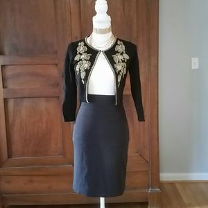H&M black pencil skirt size 34