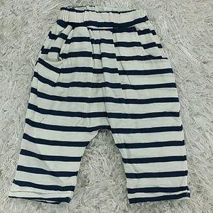 Other - Blue Striped Jogger Crop Pants. Kids