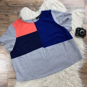 Eloquii Tops - Eloquii color blocked blouse