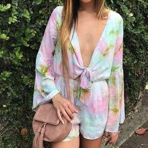 Pastel Multi-Color Tie Dye Romper