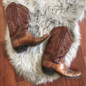 Justin Boots Shoes - Vintage Justin Cowboy Boots