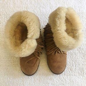 Kookaburra Ugg Fur Trim Boots