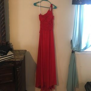 Worn once! Red dress, comes with a shall