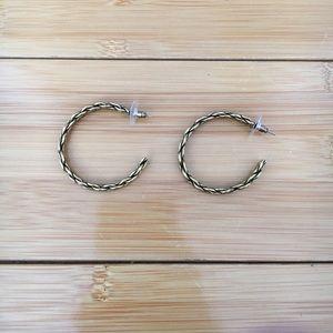 Gold Braid Hoop Earrings