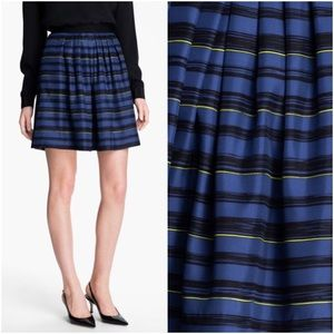 Jason Wu Dresses & Skirts - Miss Wu Jason Wu Lush Pleated Silk Striped Skirt