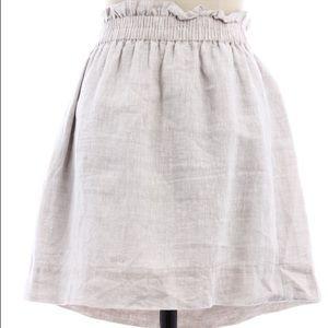 J. Crew beige linen skirt