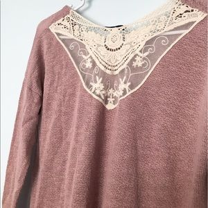 SALE! NEW Lace Back Light Sweater