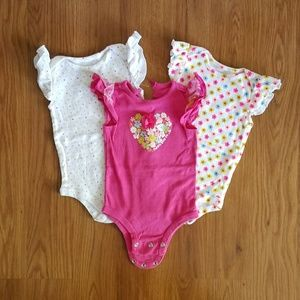 Baby Starters Other - Girls12M onesies bundle
