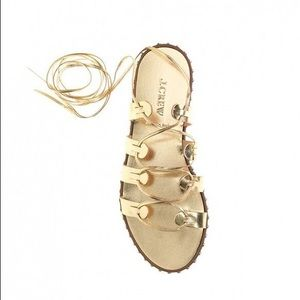 J. Crew Shoes - J. Crew Studded Lace-Up Gladiator Sandals