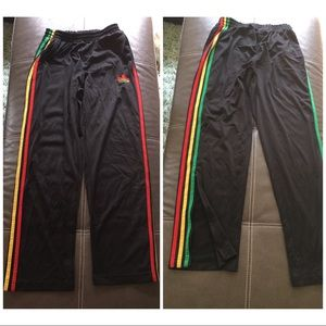 Adidas Other - Adidas workout pants red yellow green men's small
