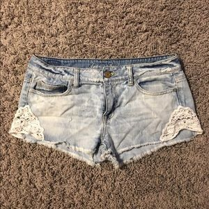 American Eagle Outfitters Pants - 🌸American Eagle Lace Shorts🌸