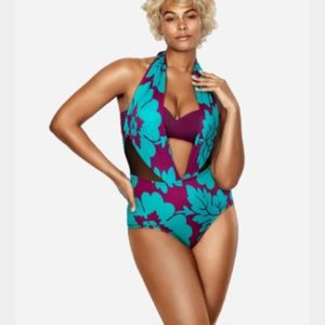 Sophie Theallet Other - Sophie Theallet Lane Bryant plunge swimsuit 16 NEW