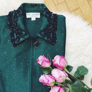 ✨ Gorgeous St. John Evening Sequin Jacket