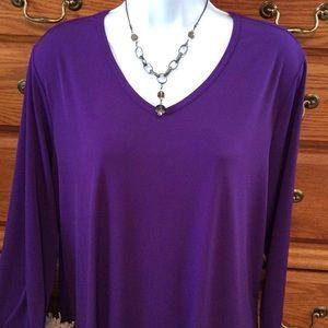 Susan Graver Tops - Susan Graver Purple Top