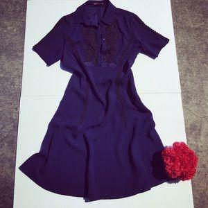 Eliza J Denim - Marchesa Voyage  Crepe and Lace Dress.