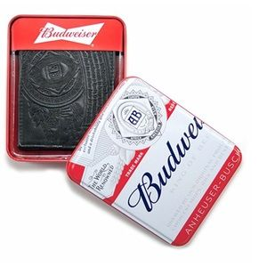 Budweiser Other - Budweiser Embossed Leather Bifold Wallet