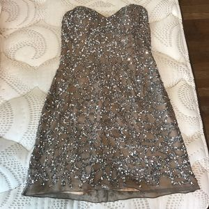 Scala Dresses & Skirts - Sequin Strapless Cocktail Dress- WORN ONCE!!!