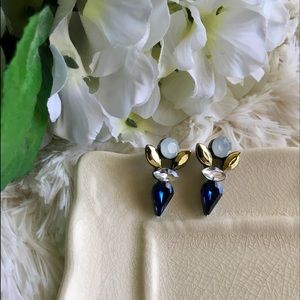"Bedecked & Bedazzled Jewelry - ""Electra"" Crystal Statement Earrings"