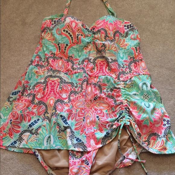e8b25caac4 Lane Bryant Swim   Cacique Floral Paisley Suit 16 New   Poshmark