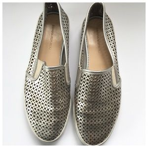 Banana Republic Shoes - Banana Republic Silver Metallic Leather Sneakers