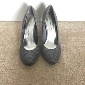 Chinese Laundry Sparkly Silver Pumps