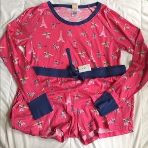 NWT adorable french pajama set