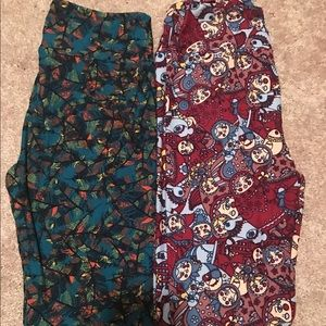 Lularoe OS Leggings Russian Dolls Unicorn