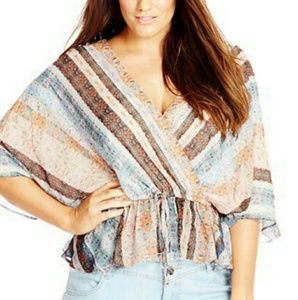 City Chic Tops - ❤ NWT City Chic Heavenly Stripe Shirt Size Medium