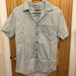 The Zara Man Button Down Short Sleeved Shirt
