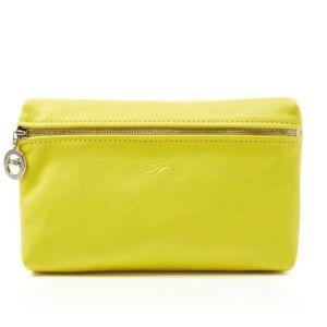 Longchamp Handbags - Longchamp le pliage cuir cosmetic case (lemon)