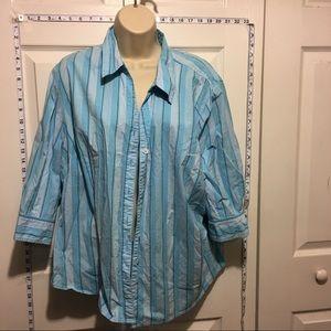 Liz & Me Tops - Any 2 ✅for $15 Liz & Me Blue Striped 3/4 Sleeve