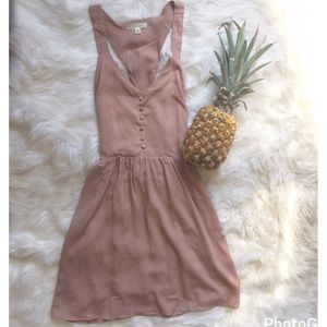 Alythea Dresses & Skirts - Blush Button Dress