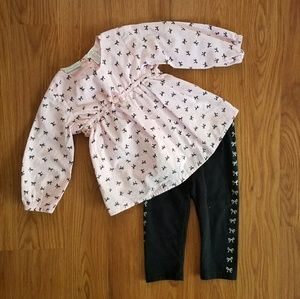 First Impressions Other - 12M pink and black dressy outfit