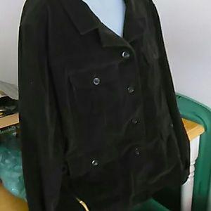Fashion Bug Jackets & Blazers - Courdoroy chocolate jacket plus size