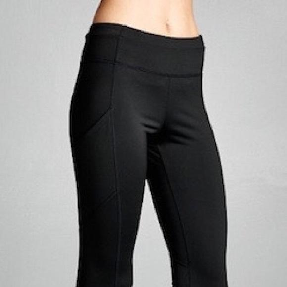 Black Yoga Pants Leggings No Show