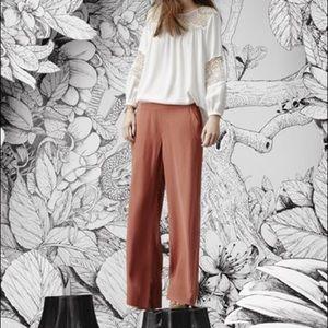 Joie silk wide leg terra-cotta Zinga pant CS NWT