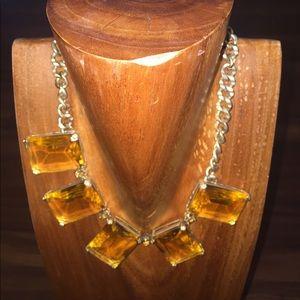 "Jewelry - Amber ""Gemstone "" Necklace w/Gold Chain."